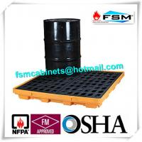 China 55 Gallon Drum Spill Containment 4 Drum Spill Pallet For Oil Spill Control wholesale