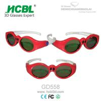 China Lovely Red Round Frame USB Recharable Active Shutter 3D Glasses For Children wholesale