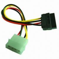 China Serial ATA 15-pin Female to Molex 4-pin Female with Clips wholesale