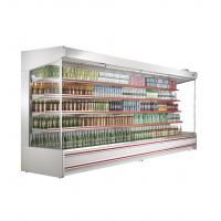 China White / Red Upright Open Chiller Supermarket Showcase With Big Capacity For Store wholesale
