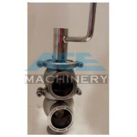 Quality Sanitary Ss304 Ss316L Pneumatic Reversing Valve Tri Clamp L Type Handle Cut-Off for sale