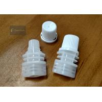 Buy cheap White Color PE Pour Spout Caps Screw Type Outer Diameter 10.5 Millimeter from wholesalers