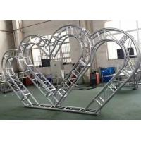China Hard Pressed Aluminum Spigot Truss Heart Shaped For Wedding Decoration wholesale