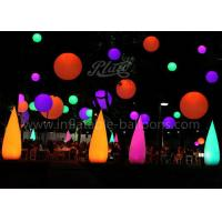 China LED Wick Inflatable Cone , Outdoor Decoration Water Drop Shape Inflatable Balloon wholesale