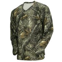 China Wicking Long Sleeve Camouflage Hunting Suit Camo Fishing T Shirt 100% Poly Knit Grid wholesale