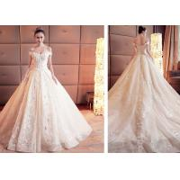 China Breathable Princess Dream Ball Gown Style Wedding Dresses With Long Trains wholesale