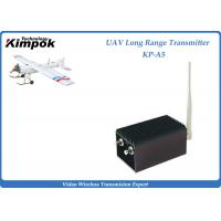 China 70km UAV Wireless Video Transmitter 1.2Ghz Analog Video Transmitter and Receiver 5W 8 Channels wholesale