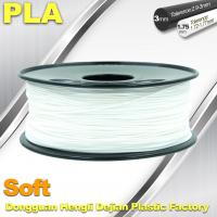 China Soft PLA 3D Printer filament., 1.75 / 3.0mm, White Color wholesale