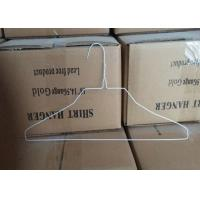 China White Coated 2.0mm Metal Wire Shirt Hangers , 500 Pcs / Carton Packing wholesale