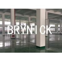 China Roofed 3 Sides Wire Mesh Security Partitions Warehouse Cage Systems 20*10 *8 wholesale