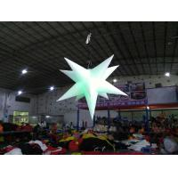 China Inflatable Star With LED Light , Oxford Material Inflatable Advertising Products on sale