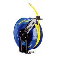 China Goodyear Steel Spring Driven Low Pressure air water retractable hose reel 20m hose wholesale