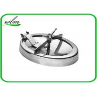 Quality 304 316L Stainless Steel Manhole Cover Sanitary Elliptical Shape For Hygienic Tank Vessels for sale