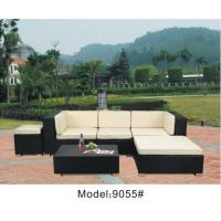 China 6-piece outdoor wicker rattan conversation sofa set with ottoman -9055 wholesale