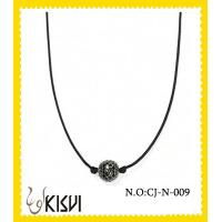 China 2012 unique design black alloy crystal round handcrafted crystal jewelry - necklace wholesale