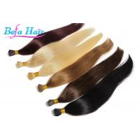 China Women i Tip Hair Extensions 100 Virgin Human Hair Weave With Full Cuticles wholesale