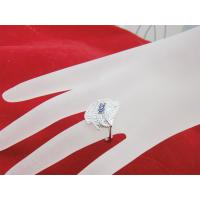China 925 Sterling Silver Handmade Fashion Jewelry CZ Ring Size 6.25 on sale