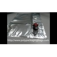 China Plastic Flexible Packaging Reusable Bag In Box With Spout , Silver wholesale