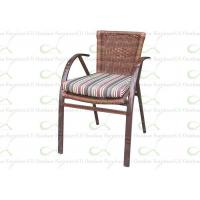 Quality Outdoor Dining Chairs Bamboo Liked Aluminum Outdoor Resin Wicker Chair for sale