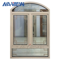 China Round Top Arched Casement Window 2440x8000mm Max size wholesale