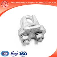 Buy cheap Hot-dip galvanized wire rope clips/ guy clips electric cable clamps from wholesalers