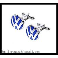 China metal cufflinks with customized logo/wholesale Volkswagen enamel cufflinks wholesale