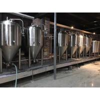2000L Large Scale Brewing Equipment 304 Sanitary Pumps With VFD Controls