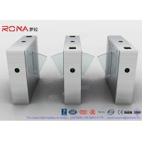 Quality Multi - Lane Half Height Turnstiles , Optical Flap Barrier Access Control for sale