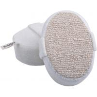 China Dot Hemp Polyester Terry body scrubber for shower , Natural Pad For Skin Cleaning wholesale