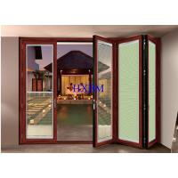China Bottom Rolling Interior Folding Doors , Multi Color Aluminium Folding Sliding Doors wholesale