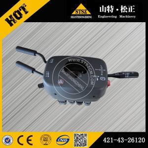 China Komatsu WA380-3 transmission control switch 421-43-26120, Komatsu wheel loader spare parts wholesale