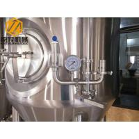China Steam Heated Large Beer Brewing Equipment , Three Vessels 15HL Beer Making System wholesale