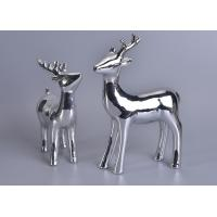 China Silver Mercury Animal Ceramic Mantle Shelf Table Centerpiece Deer Decor wholesale