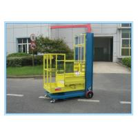 Quality Warehouse Order Picker 2.8m Mast Type , Hydraulic Aluminum Stock Picker Lift for sale