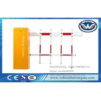 China Two Fencing Automatic Parking Barriers Vehicle Access DZ-130 Boom Gate Yellow Color on sale