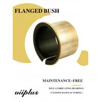 China Custom Mild Steel Metal Sleeve Flange Bearing Split Bushings Copper Plating wholesale