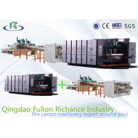 China Automatic Flexo Printing Slotting Die-Cutting Folder Gluer Strapping Inline Machine wholesale