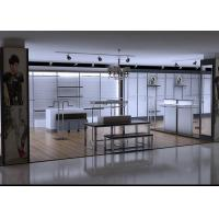 China Men Clothing Display Case / Store Display Fixtures Decorated With LED Spotlights wholesale