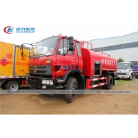 China Dongfeng 170HP 8m3 Carbon Steel Water Tanker Fire Brigade Truck wholesale