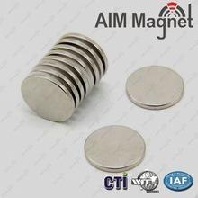 China N52 Diameter 15mm x 2mm thickness Rare Earth Disc Neodymium Magnet for generator wholesale