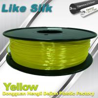 China Yellow Colors 3D Printer Filament Polymer Composite ( Like Silk ) 1.75mm / 3.0mm Filament wholesale