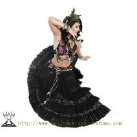 China High Class Thick Tribal Belly Dance Costumes Hand Made Fabric Flower wholesale
