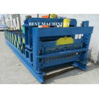 China Corrugating Iron Roofing Sheet Making Machine Metal Roofing Equipment 8m/min - 12m/min wholesale