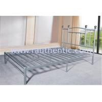 China Durable Heavy Duty Silver Metal Single Bed Frame Metal Bedroom Furniture Powder Coating wholesale