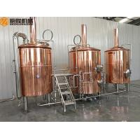 Quality 10HL Red Copper Beer Brewing Kit , Electric / Steam Heated Beer Fermentation for sale