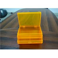 China Orange 2layers Acrylic Jewelry Display Case With Drawers , Dyeing And Painting wholesale