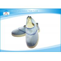 China Blue Dustproof 0.5CM Stripe Lining Insole Anti Static Worker Shoes in Pharmaceutical industry wholesale