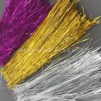 China Brown Colored Plastic Shredded Tissue Paper For Gift Baskets PE Metallic Decoration wholesale