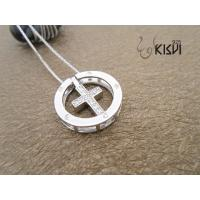 China Elegant designs and excellent finishing white cross silver gemstone pendant with zircon wholesale