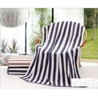 China Plain Colored Zebra Striped Bath Towels Skin Care Machine Washable 70*140cm wholesale
